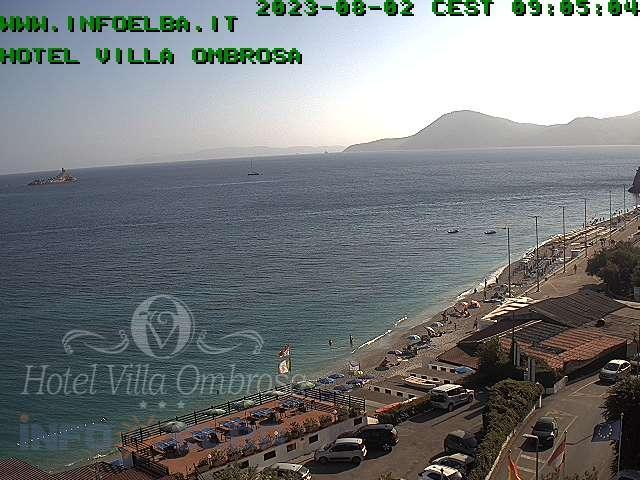 Elba Webcam: Ghiaie Beach Portoferraio Elba Island