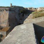 Le imponenti mura di Forte Falcone Portoferraio