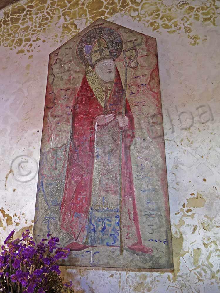 Affresco sopra l'altare di San Liborio
